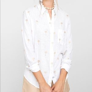 Rails Charli Golden Palm Button Down Small